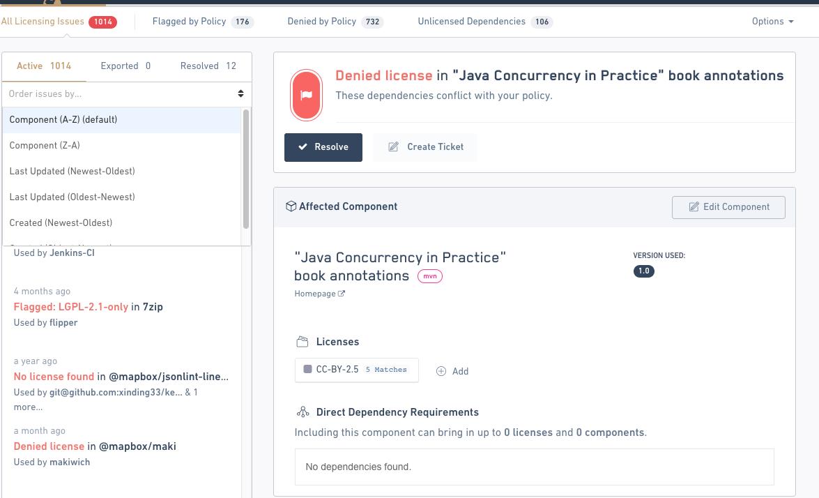 FOSSA open source management workflow