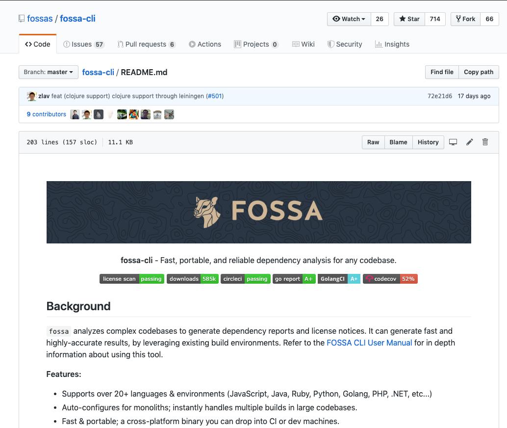 FOSSA CLI UPDATES