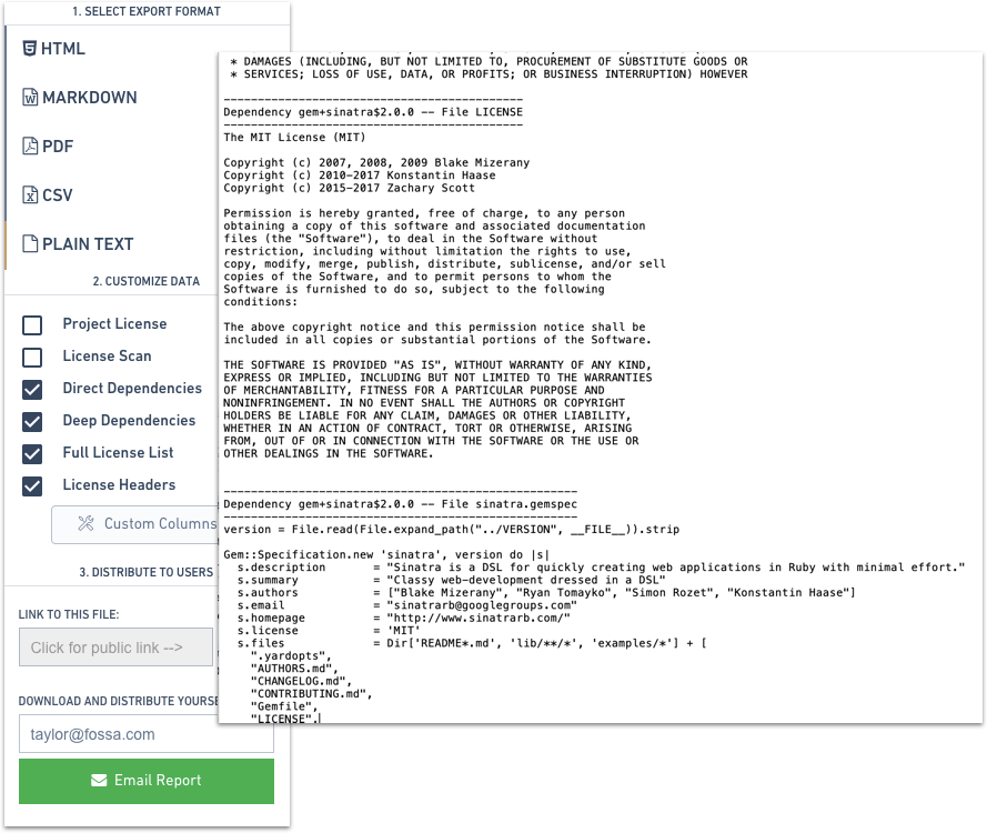 FOSSA Open Source License Headers