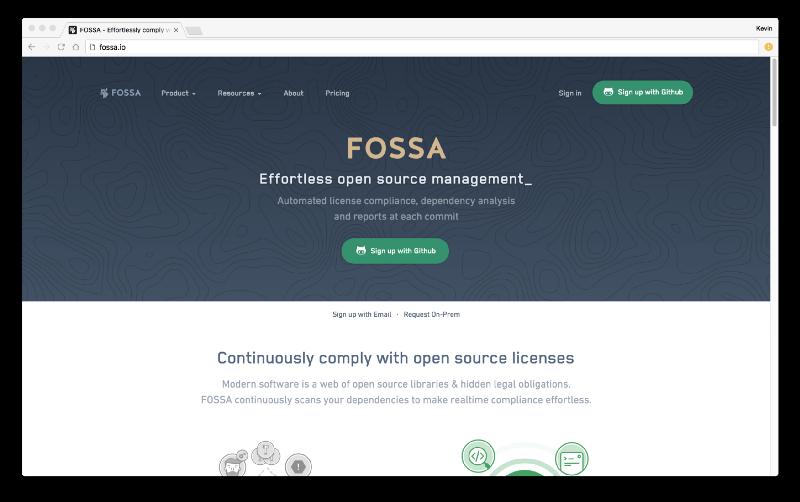 FOSSA Website